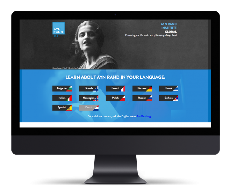 Ayn Rand Global – Landing Page
