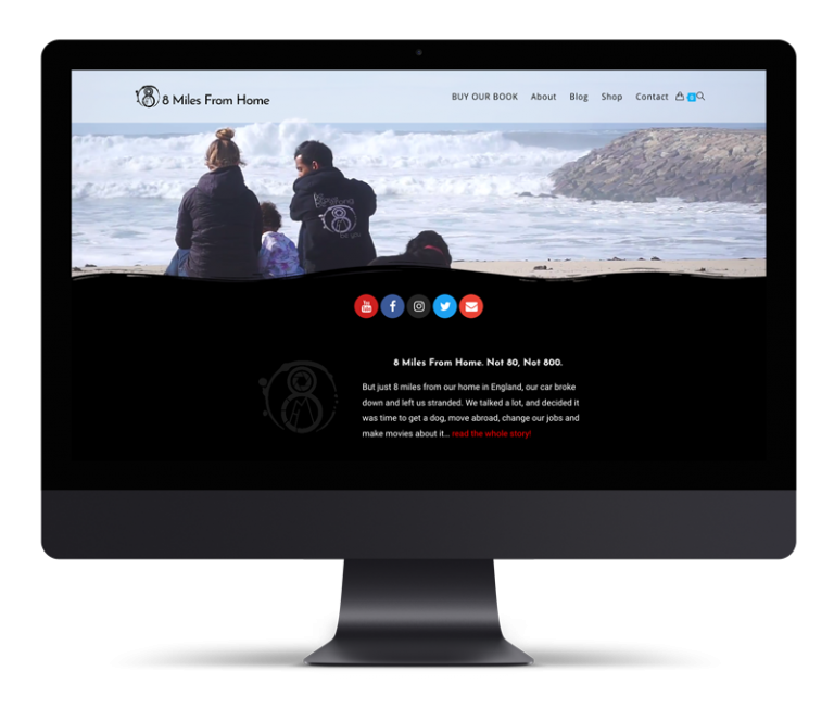 8 Miles From Home – E-commerce & Web Site Design